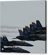 Blue Angels Over Show Center  Acrylic Print