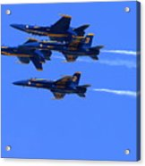 Blue Angels Perform Over San Francisco Bay Acrylic Print