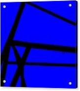 Blue Angle Abstract Acrylic Print