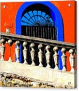 Blue Arch 1 By Michael Fitzpatrick Acrylic Print