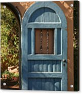 Blue Arch Door Acrylic Print
