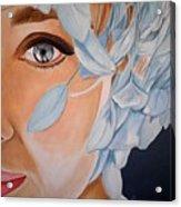 Blue Audrey Acrylic Print by Al  Molina