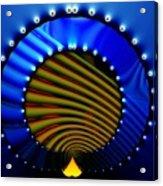 Blue Bale Ringe Acrylic Print