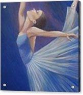 Blue Ballerina Acrylic Print