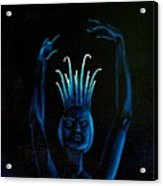 Blue Ballerina Detail Acrylic Print