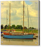Blue Barge Acrylic Print
