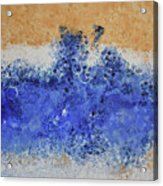 Blue Beach Bubbles Acrylic Print