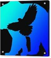 Blue Bear    -024 Acrylic Print