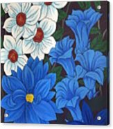 Blue Bell Flowers Acrylic Print