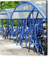 Blue Bicycle Berth Acrylic Print