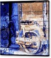 Blue Bike Abandoned India Rajasthan Blue City 2c Acrylic Print