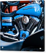 Blue Bike Acrylic Print by Tony Reddington