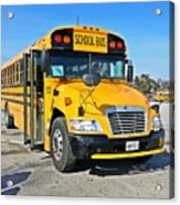 Blue Bird Vision School Bus Acrylic Print