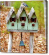 Blue Birds Castle Acrylic Print by Laura Brightwood