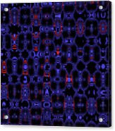 Blue Black Red Warp Abstract Acrylic Print