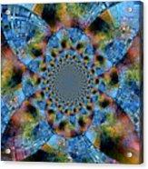 Blue Bling Acrylic Print