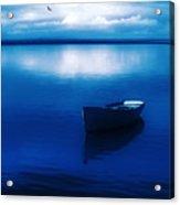 Blue Blue Boat Acrylic Print