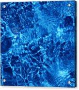 Blue Blue Water Acrylic Print