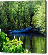 Blue Boat Cong Ireland Acrylic Print