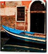 Blue Boat Venice Italy Acrylic Print