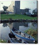 Blue Boats In Ireland Acrylic Print