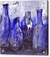 Blue Bottles Acrylic Print