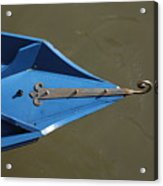 Blue Bow In Venice Acrylic Print