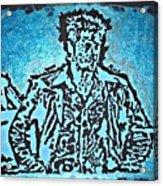 Blue Brad Acrylic Print