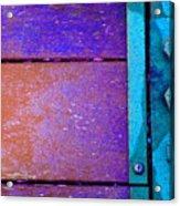 Blue Bridge Bolts Acrylic Print