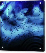Blue Bubbles Acrylic Print
