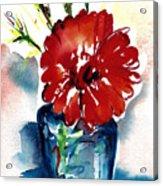 Blue Bud Vase Acrylic Print