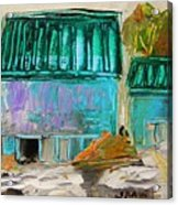 Blue Buildings Together-musing Acrylic Print