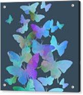 Blue Butterfly Flutter Acrylic Print