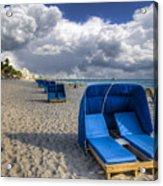 Blue Cabana Acrylic Print