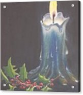 Blue Candle Acrylic Print
