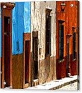 Blue Casa Row Acrylic Print
