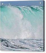 Blue Cascade   Hawaiian Wave Acrylic Print