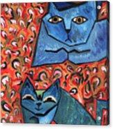 Blue Cats Acrylic Print