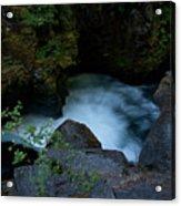 Blue Cauldron Waterfall Acrylic Print