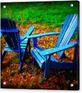 Blue Chairs Acrylic Print