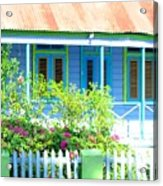 Blue Chattel House Acrylic Print