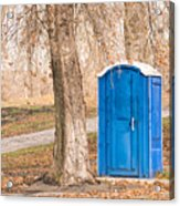 Blue Chemical Toilet In The Park Acrylic Print