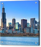 Blue Chicago Acrylic Print