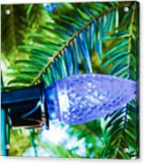 Blue Christmas Light Acrylic Print