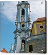 Blue Church Tower In Durnstein Acrylic Print