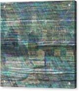 Blue City Moon Acrylic Print
