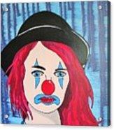 Blue Clown Acrylic Print