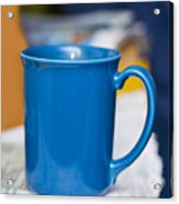 Blue Coffee Cup Acrylic Print