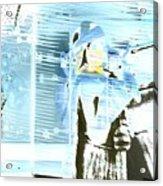 Blue Collage Acrylic Print