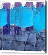 Blue Comp Number Three Acrylic Print